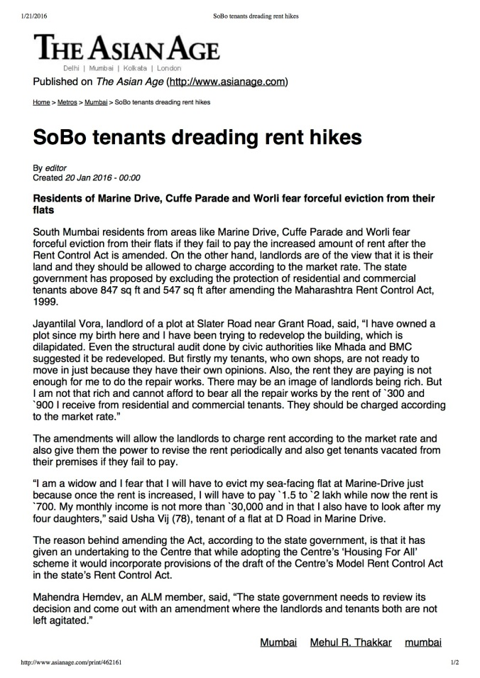 SoBo tenants dreading rent hikes